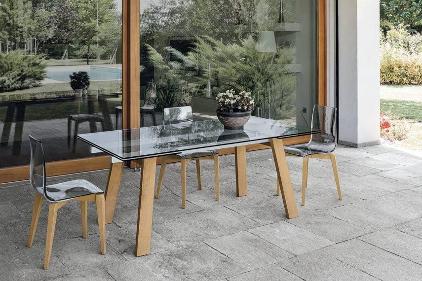 Masa extensibilă dreptunghiulară de sufragerie GIOVE-180